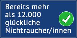 Bereits mehr als 12000 glückliche Nichtraucher/innen